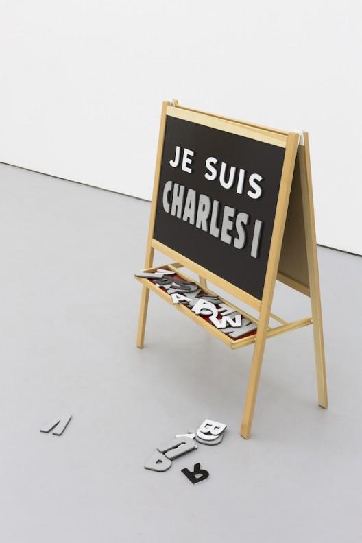 刘辛夷,《查理一世》,黑板架、EVA磁贴,总体尺寸可变,2016