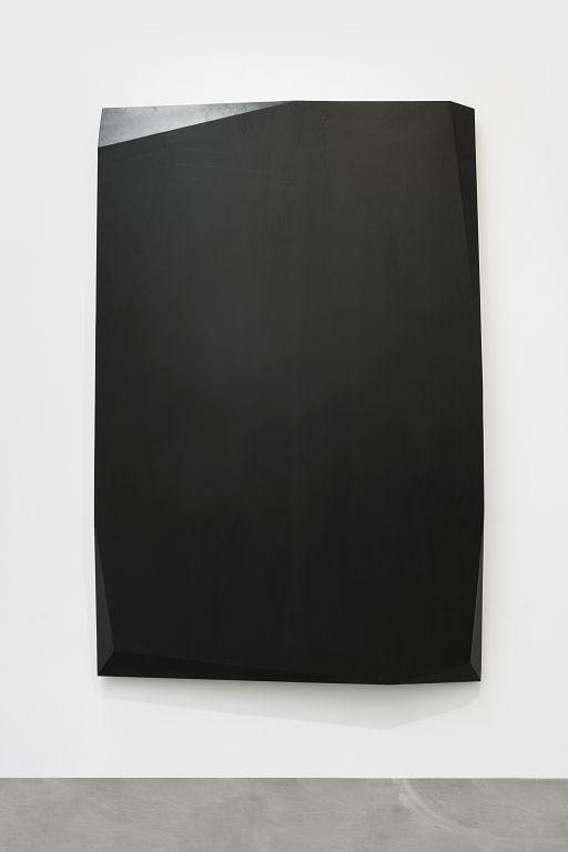 杨牧石,《拼接》,木料,黑色喷漆,200 × 300 cm,2016. Yang Mushi,