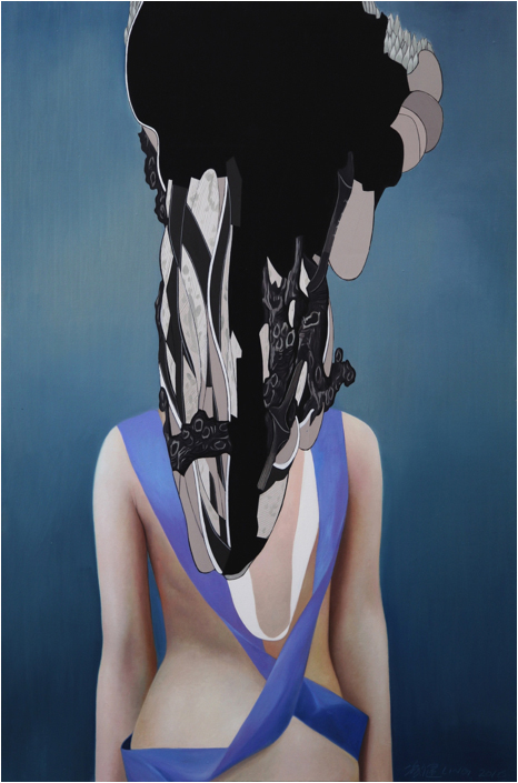 Guanxiu: Black, 2016 Oil and acrylic on canvas. 180 x 120 cm