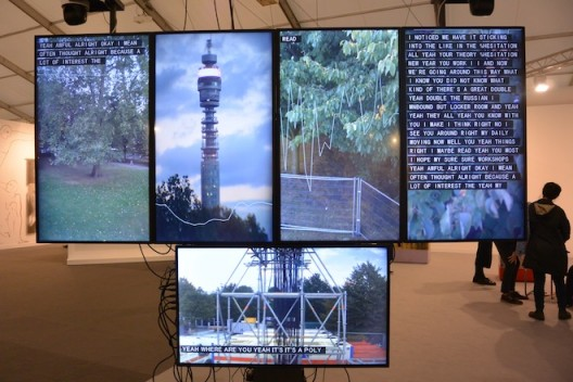 Yuri Pattison was honored by frieze Projects, with is disturbing work on video monitoring (Mother's Tank Station)