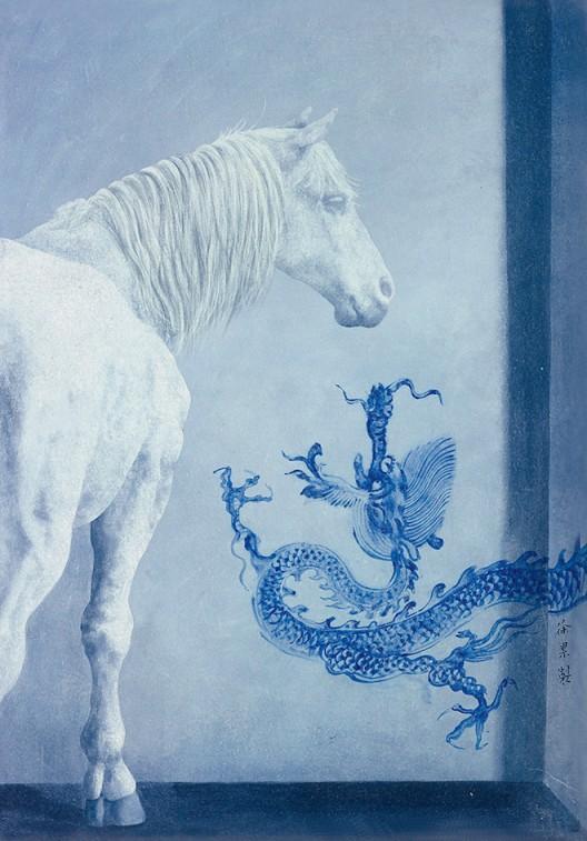 徐累-《龙马图》65×45cm-设色纸本-2012