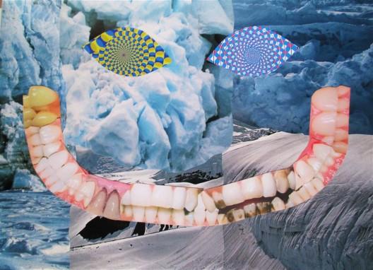 """卡尔·马克思,《Gnosmosis》,混合媒介拼贴画, 1280 × 350 cm,2016 / Karl Max, """"Gnosmosis"""", mixed media collage, 1280 × 350 cm, 2016."""