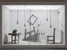 """姜吉安,""""两居室""""系列,绘画装置,2007-2009"""
