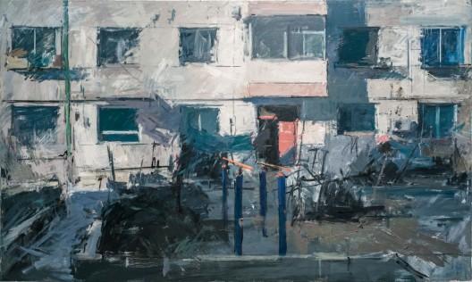 《强光下》,布面油画,200x120cm,2015