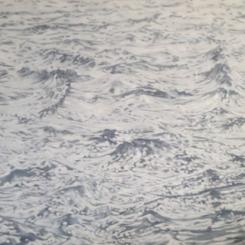 孟煌《白海》 2015,布面油画,180 × 280 cm 图片由艺术家、MDC画廊提供