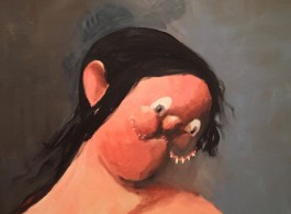 "George Condo ""The Chinese Woman"" 2001, oil on canvas (image courtesy the artist)"