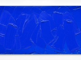 Bertrand Lavier - 'Cobalt Blue', 2016 - Acrylic on Cibachrome - 59,5 x 120 cm - 23 3/8 x 47 1/4 inches / © Bertrand Lavier - Courtesy of the Artist and Almine Rech Gallery