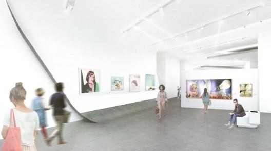 Preliminary rendering of one of Museum MACAN's galleries; by MET Studio Design Ltd.