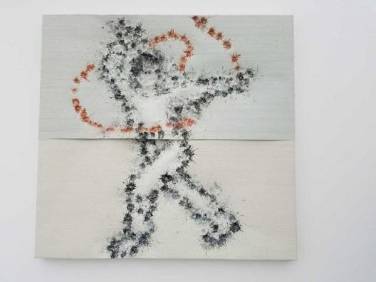 李松松,《刀术》,铝板油画,214×224 cm,2016 Li Songsong, Knife Play, oil on aluminu, 214×224 cm, 2016