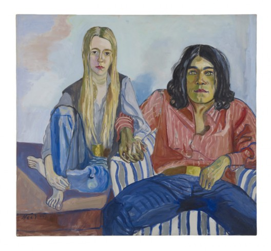 Ian and Mary, 1971, Oil on canvas, 46 x 50 inches (116.8 x 127 cm), © The Estate of Alice Neel. Courtesy David Zwirner, New York/London