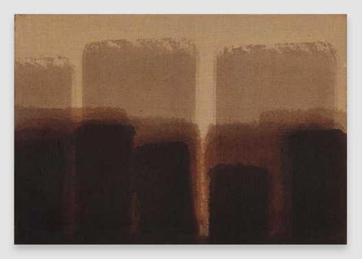 Burnt Umber & Ultramarine, 1984, Oil on linen, 17 7/8 x 25 3/4 inches (45.4 x 65.4 cm), © Yun Seong-ryeol. Courtesy PKM Gallery, Seoul and David Zwirner, New York/London