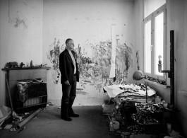 Luc Tuymans in his studio (2009). Photo by Grant Delin