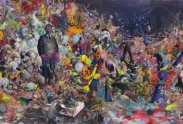 Jonas Burgert, ZEITLAICH, 2017, Oil on canvas, 6 x 22m, Courtesy the artist and Blain|Southern, Photo: Trevor Good