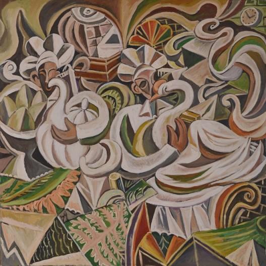 厨师和白鹅,150x150cm,布面油画,2014