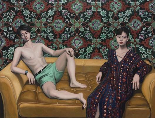 阿拉伯长袍。170x220cm,布面油画,2016