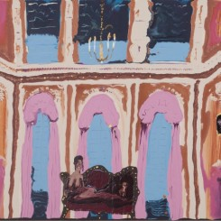 "Genieve Figgis ""Pink Stage"", 2017 - Acrylic on canvas - 80 x 100 x 4 cm / 31 1/2 x 39 3/8 x 1 5/8 inches-© Genieve Figgis - Courtesy of the Artist and Almine Rech Gallery-Almine Rech Gallery Genieve Figgis - Pink Stage, 2017 - Acrylic on canvas - 80 x 100 x 4 cm / 31 1/2 x 39 3/8 x 1 5/8 inches / © Genieve Figgis. Courtesy of the Artist and Almine Rech Gallery"