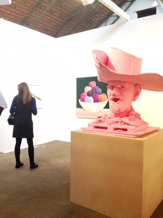 Paul McCarthy, SC Western John Wayne, Pink, 2016 at gallery Xavier Hufkens