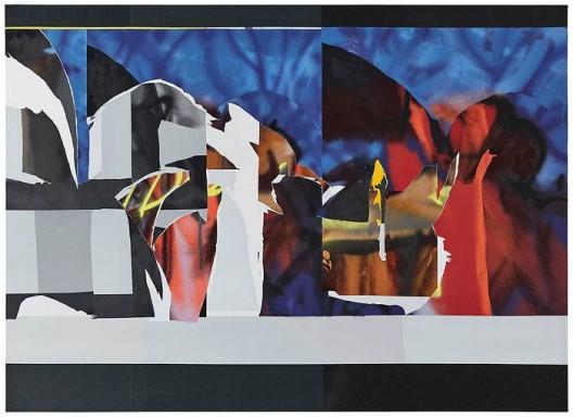 韩冰,《叠加》,亚麻布面丙烯,2017 HAN Bing, Overlap, Acrylic on Linen, 255×185cm