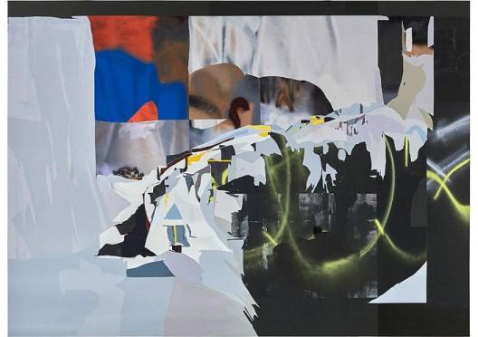韩冰,《嘛街》,亚麻布面丙烯,2017  HAN Bing, Mott Street, Acrylic on Linen, 255×185cm