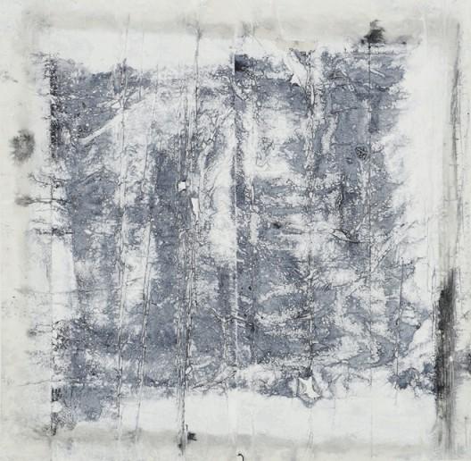 插图9 《更改过的方形》(二〇一二 年作, 宣纸、 墨、 丙烯, 纵 一三六厘米,横一三八厘米), 丹尼尔陈与珍妮弗·菲尔德 藏。