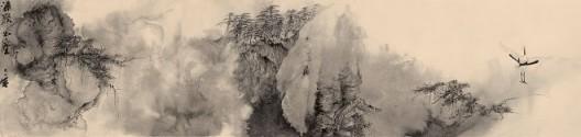 郑力,《潇洒出尘》,水墨 纸本,41 x 172.5 cm,2013(图片由艺术家及汉雅轩提供) ZHENG Li,