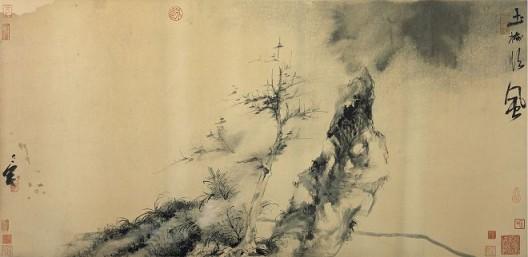 郑力,《玉树临风》,水墨 古纸本,51 x 106 cm,2015(图片由艺术家及汉雅轩提供) ZHENG Li,