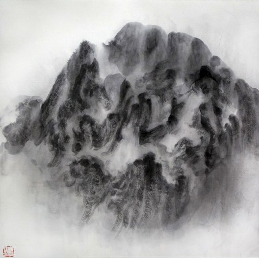 "徐龙森,《云图之一》,水墨纸本,122 x 122 cm,2015(图片由艺术家提供) XU Longsen, ""Cloud Series No. 1"", Ink on Paper, 122 x 122 cm, 2015 (Image Courtesy of the Artist)"