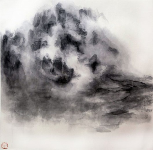 "徐龙森,《云图之二》,水墨纸本,122 x 122 cm,2015(图片由艺术家提供) XU Longsen, ""Cloud Series No. 2"", Ink on Paper, 122 x 122 cm, 2015 (Image Courtesy of the Artist)"