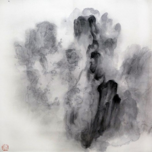 "徐龙森,《云图之三》,水墨纸本,122 x 122 cm,2015(图片由艺术家提供) XU Longsen, ""Cloud Series No. 3"", Ink on Paper, 122 x 122 cm, 2015 (Image Courtesy of the Artist)"