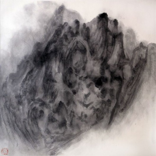 "徐龙森,《云图之四》,水墨纸本,122 x 122 cm,2015(图片由艺术家提供) XU Longsen, ""Cloud Series No. 4"", Ink on Paper, 122 x 122 cm, 2015 (Image Courtesy of the Artist)"