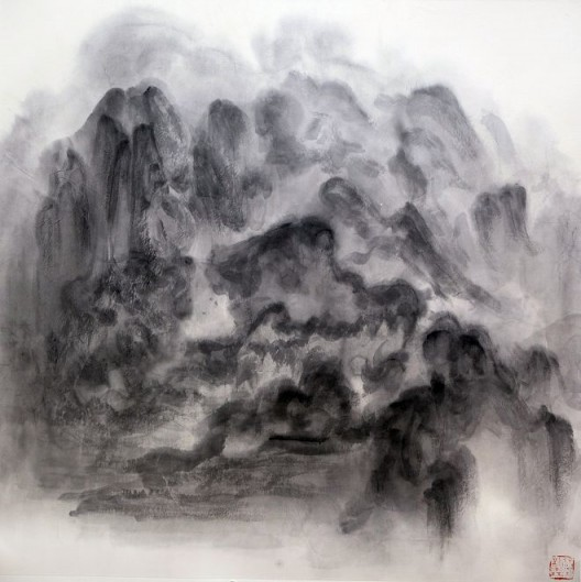 "徐龙森,《云图之五》,水墨纸本,122 x 122 cm,2015(图片由艺术家提供) XU Longsen, ""Cloud Series No. 5"", Ink on Paper, 122 x 122 cm, 2015 (Image Courtesy of the Artist)"