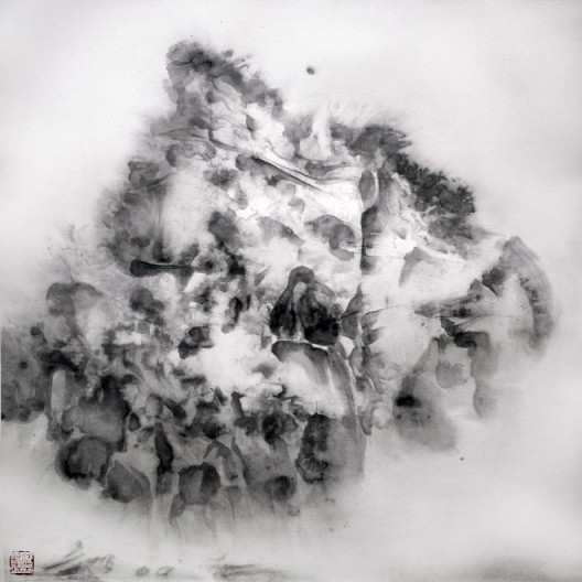 "徐龙森,《云图之六》,水墨纸本,122 x 122 cm,2015(图片由艺术家提供) XU Longsen, ""Cloud Series No. 6"", Ink on Paper, 122 x 122 cm, 2015 (Image Courtesy of the Artist)"