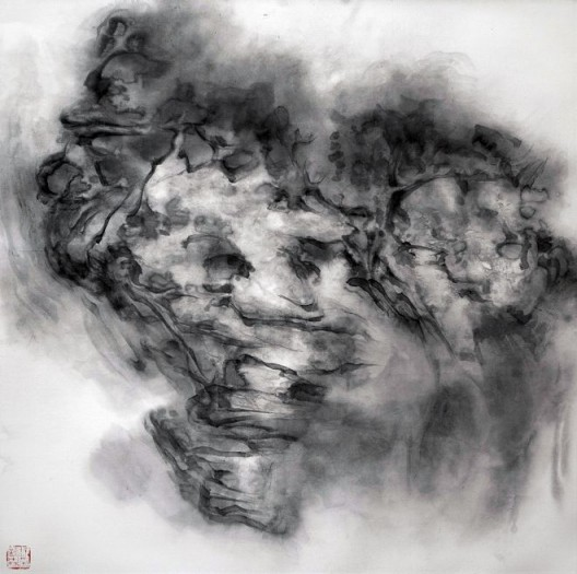 "徐龙森,《云图之七》,水墨纸本,122 x 122 cm,2015(图片由艺术家提供) XU Longsen, ""Cloud Series No. 7"", Ink on Paper, 122 x 122 cm, 2015 (Image Courtesy of the Artist)"