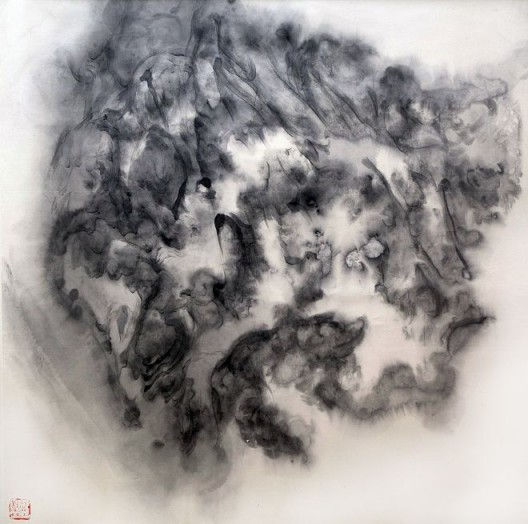 "徐龙森,《云图之八》,水墨纸本,122 x 122 cm,2015(图片由艺术家提供) XU Longsen, ""Cloud Series No. 8"", Ink on Paper, 122 x 122 cm, 2015 (Image Courtesy of the Artist)"