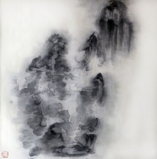 "徐龙森,《云图之十》,水墨纸本,122 x 122 cm,2015(图片由艺术家提供) XU Longsen, ""Cloud Series No. 10"", Ink on Paper, 122 x 122 cm, 2015 (Image Courtesy of the Artist)"