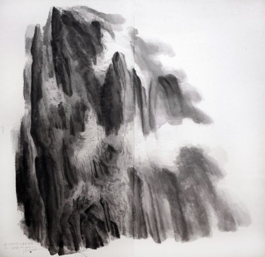 "徐龙森,《杜甫诗意图之二》,水墨纸本,150 x 147 cm,2010(图片由艺术家提供) XU Longsen, ""Poetic Spirit of Du Fu No. 2"", Ink on Paper, 150 x 147 cm, 2010 (Image Courtesy of the Artist)"