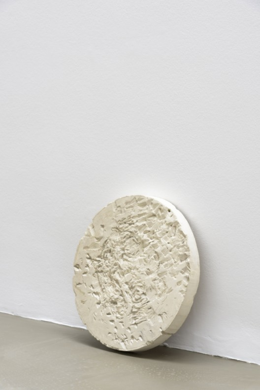 Gabriel Orozco 'Rosette stone' 2017 Pierre calcaire / Limestone 40 x 40 x 5 cm / 15 3/4 x 15 3/4 x 2 inches GO17 50 (Courtesy of the artist and Galerie Chantal Crousel, Paris Photo : Florian Kleinefenn)