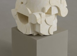 Gabriel Orozco Dé taillé 2017 Pierre calcaire de Bali / Balinese limestone 30 x 30 x 30 cm / 11 6/8 x 11 6/8 x 11 6/8 inches  (Courtesy of the artist and Galerie Chantal Crousel, Paris Photo : Florian Kleinefenn)