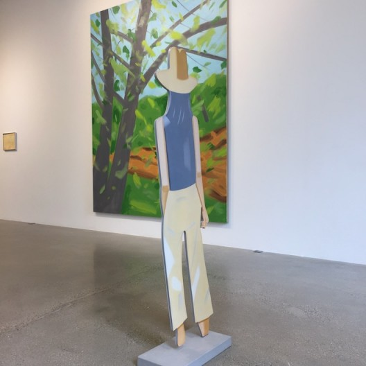 Alex Katz at Timothy Taylor with two-dimensional viewer—who always faces away from you, another viewer.