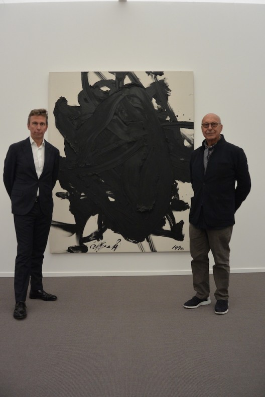 Boris and Axel Vervoordt with Kazuo Shiraga