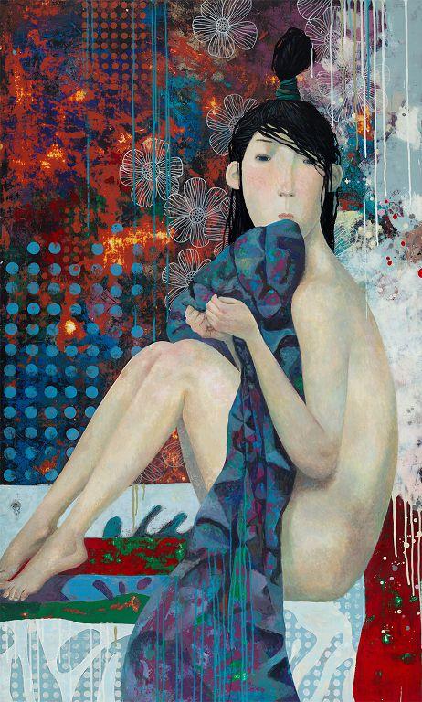 """Remembering Summer"" by Zorikto Dorzhiev, Khankhalaev Gallery, Russia, Room 4225 ""Remembering Summer"", Zorikto Dorzhiev, Khankhalaev Gallery, 俄罗斯, 房间4225"