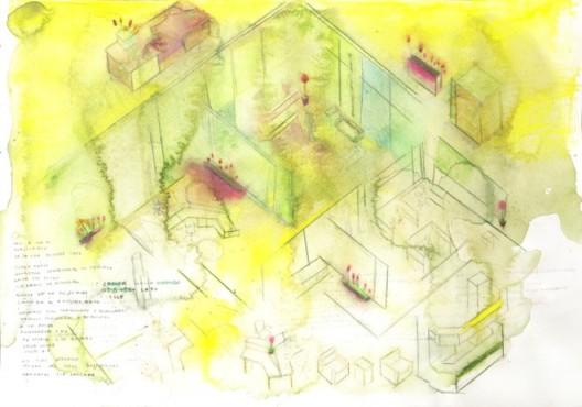 """José María Sicilia, Phasma, cotton paper, watercolor and graphite pencil, 51 x 36 cm — © José María Sicilia何塞·玛利亚·西西利亚,""""Phasma"""",绵纸、水彩和石墨铅笔,51 x 36 cm,版权归艺术家所有"""