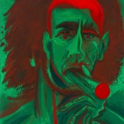 Jason Fox, Hulk, 2018 - Oil, acrylic and pencil on canvas - 106,7 x 91,4 cm, 42 x 36 inches / © Jason Fox - Courtesy of the Artist and Almine Rech Gallery - Photo: Al Nowak / On Location Studios