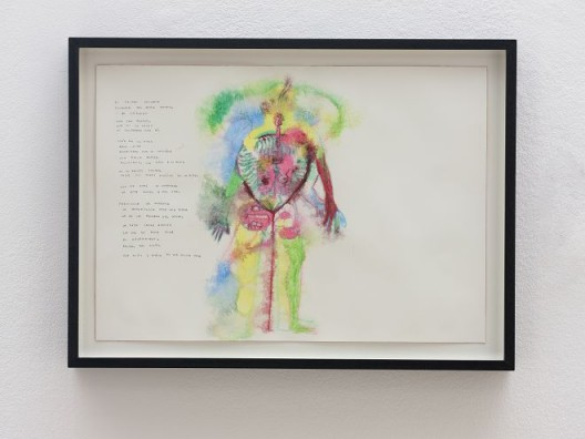 José María Sicilia, el pájaro parlante, 2017, papier coton, aquarelle et crayon graphite / Cotton paper, watercolour and graphite, 51 x 36 cm / 20 1/8 x 14 1/8 inches, 43 x 58 cm / 16 7/8 x 22 7/8 inches (framed/encadré). Courtesy de l'artiste et de la / of the artist and Galerie Chantal Crousel, Paris Photo : Florian Kleinefenn