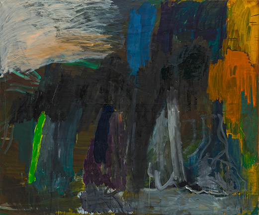 Per Kirkeby, Untitled, 1986. Oil on canvas, 78 3/4 x 94 1/2 inches (200 x 240 cm).
