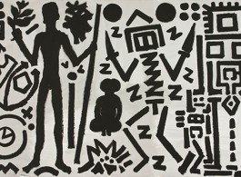 Welt des Adlers IV (World of the Eagle IV), 1981. Acrylic on canvas, 70 3/4 x 110 1/4 inches (180 x 280 cm).