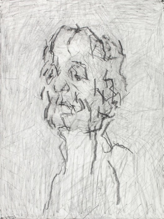 Self-Portrait VI, 2017, graphite on paper, 76.8 x 57.1 cm.; 30 1/4 x 22 1/2 in.