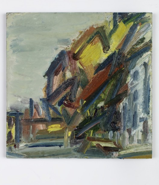 Albert Street IV, 2017, oil on board, 38.1 x 38.1 cm.; 15 x 15 in. Copyright Frank Auerbach, Courtesy Marlborough Fine Art