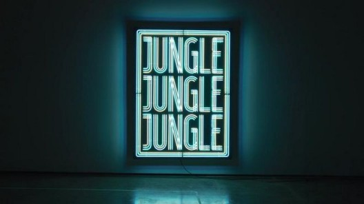 Doug Aitken, Jungle, 2016, Neon, wood, 96 x 72 inches (243.8 x 182.9 cm) 道格·阿提肯,《丛林》,2016,霓虹灯,木,243.8182.9 cm