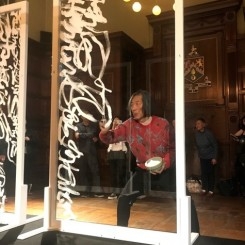 Wang Dongling performing at the Park Avenue Armory for the ADAA Art Show 2018 in New York 王冬龄纽约公园大道军械库2018美国艺术经销商协会艺术展表演现场